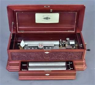 Swiss Interchangeable Cylinder Music Box