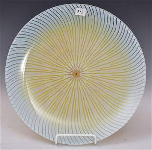 Maurice Heaton Art Glass Charger