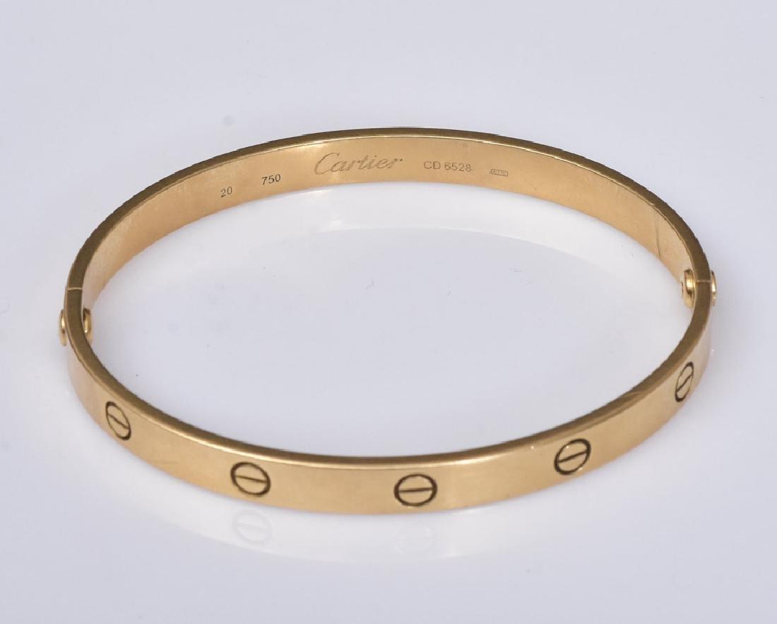 Cartier 18k Gold Love Bracelet - 3