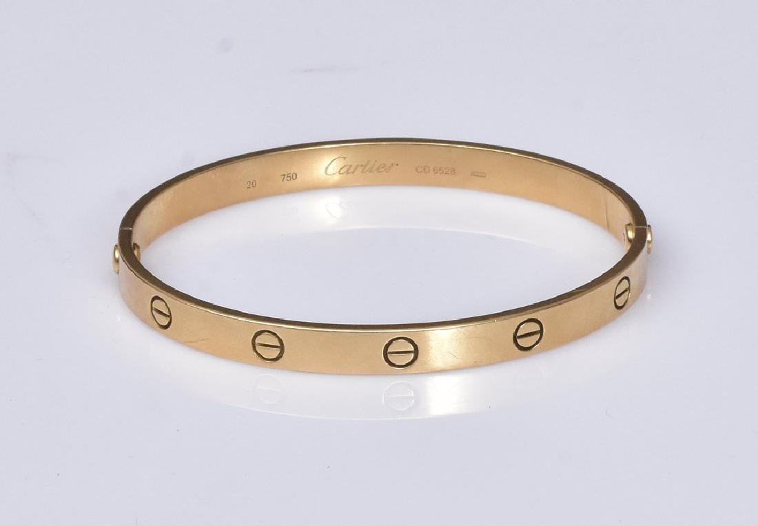 Cartier 18k Gold Love Bracelet - 4