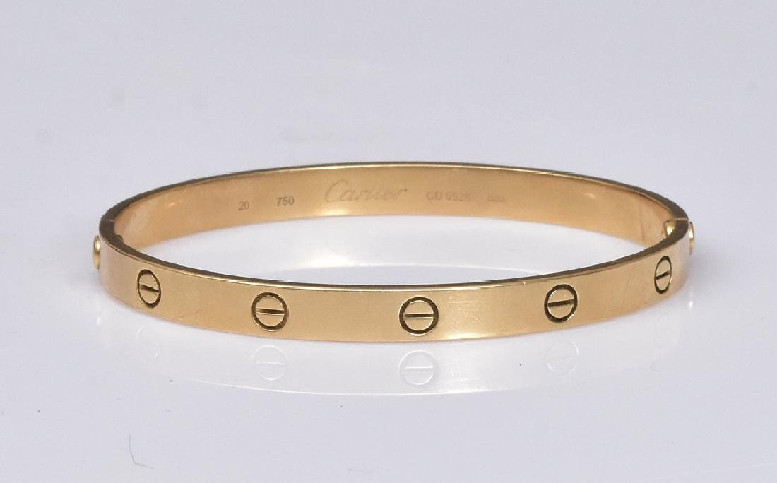 Cartier 18k Gold Love Bracelet - 5