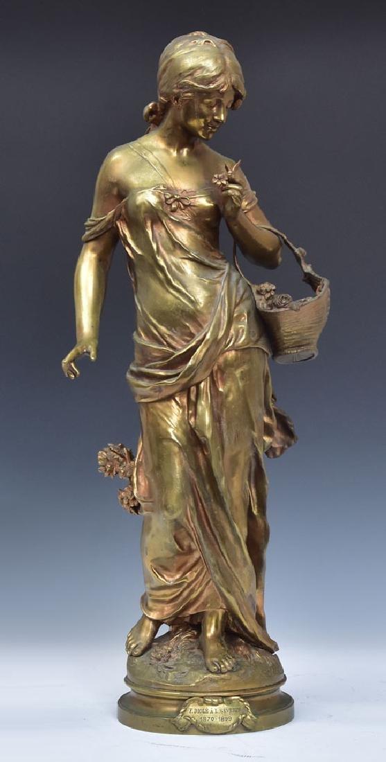 after Auguste Moreau Bronze Statue