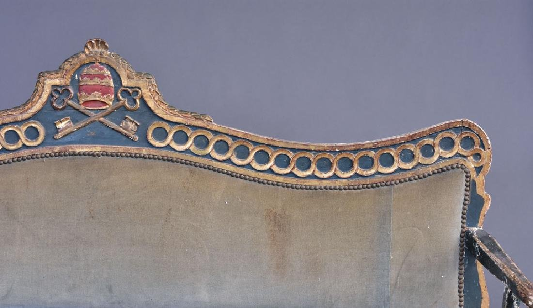 Italian Gilt and Paint Decorated Settee - 2