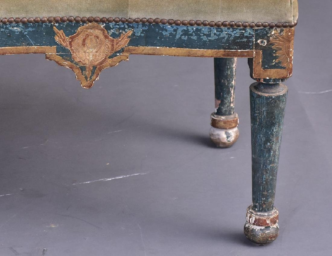 Italian Gilt and Paint Decorated Settee - 4