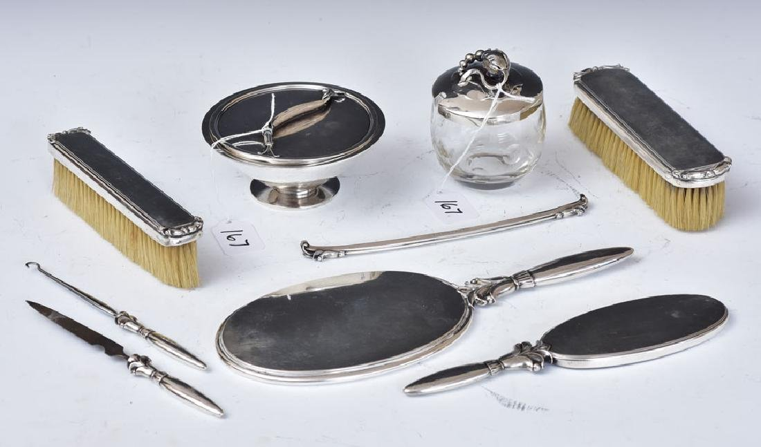 Georg Jensen Sterling Silver Dresser Set
