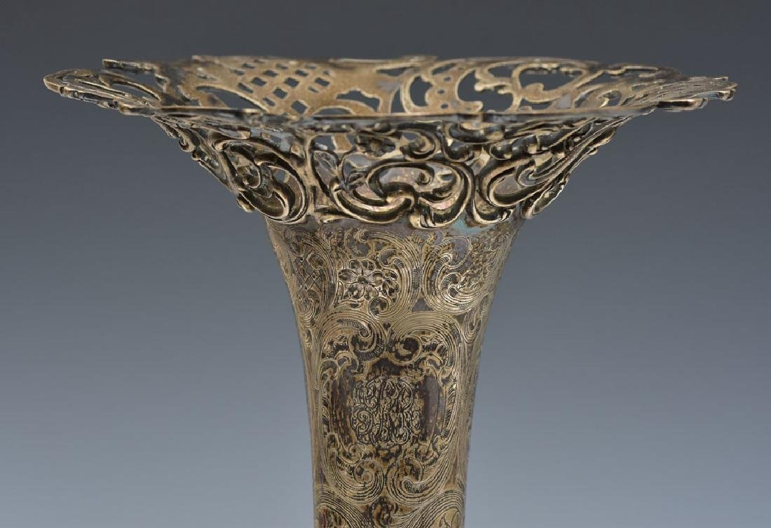 J. E. Caldwell Sterling Silver Pierced Vase - 4