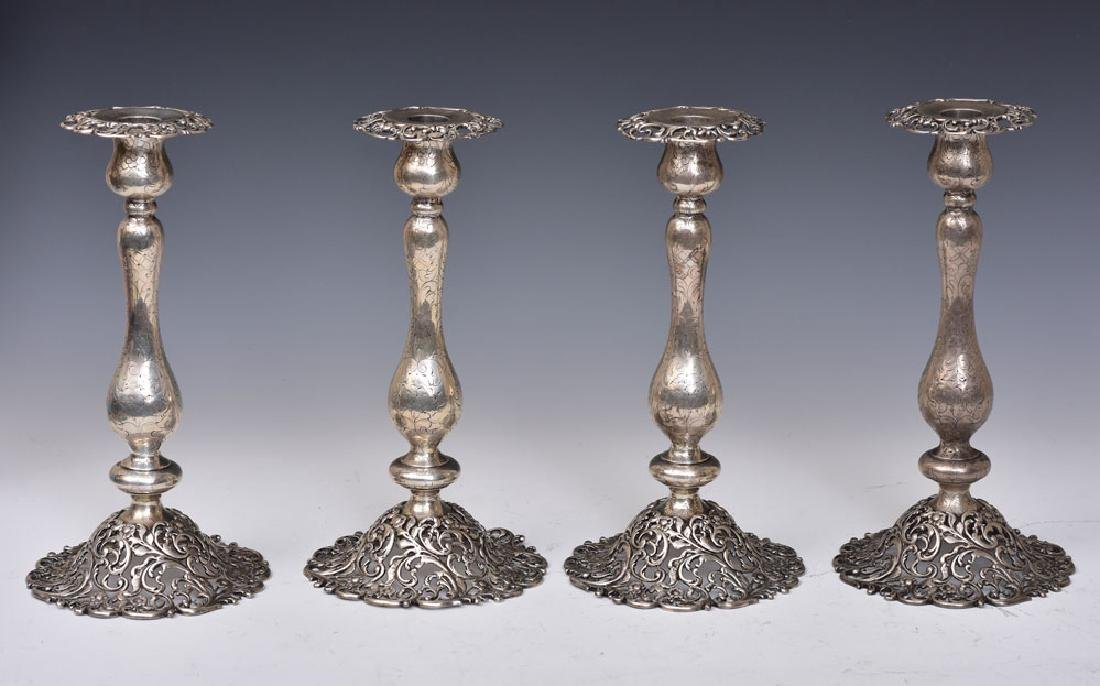 J. E. Caldwell Sterling Silver Candlesticks