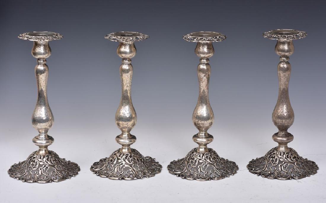 J. E. Caldwell Sterling Silver Candlesticks