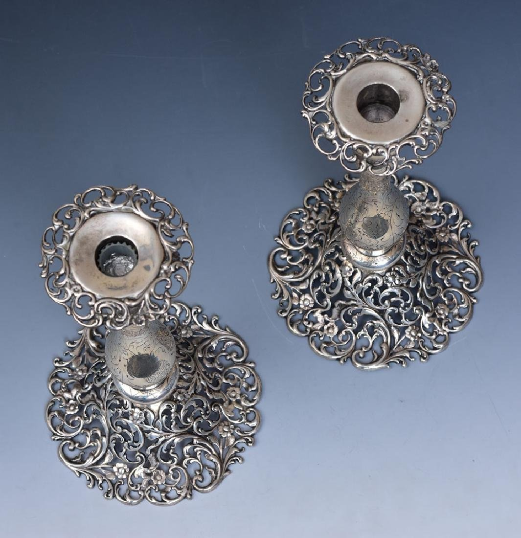 J. E. Caldwell Sterling Silver Candlesticks - 2