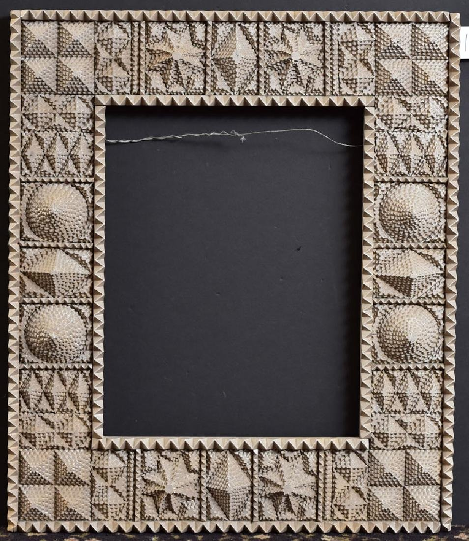 American Tramp Art Carved Frame