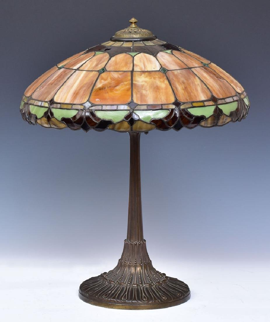 Leaded Glass Parlor Lamp