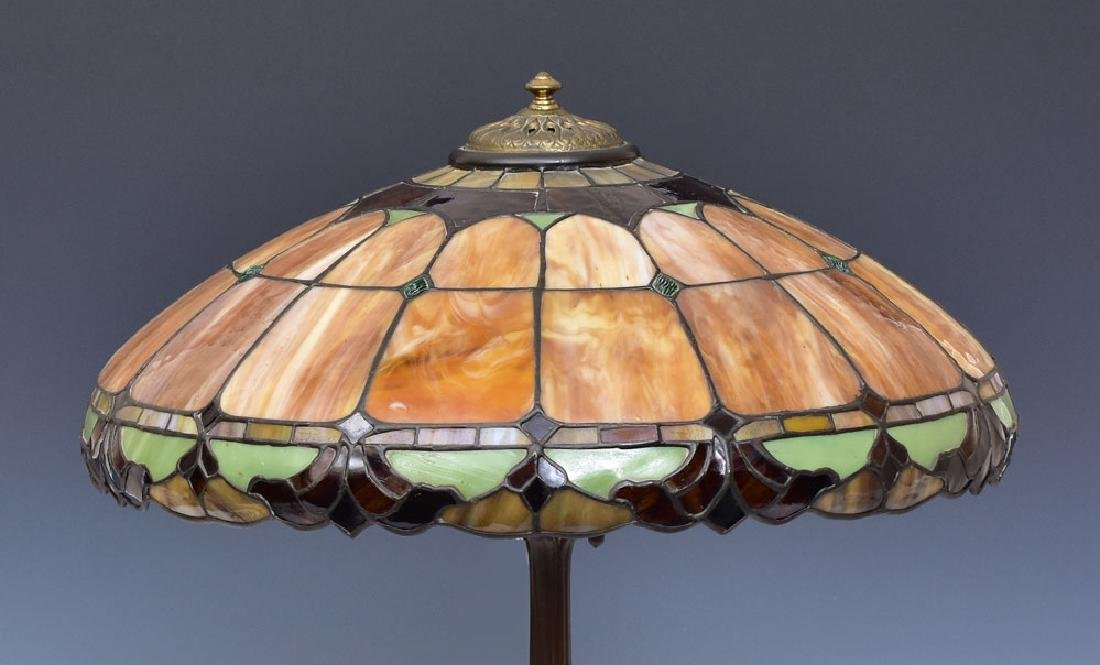 Leaded Glass Parlor Lamp - 2