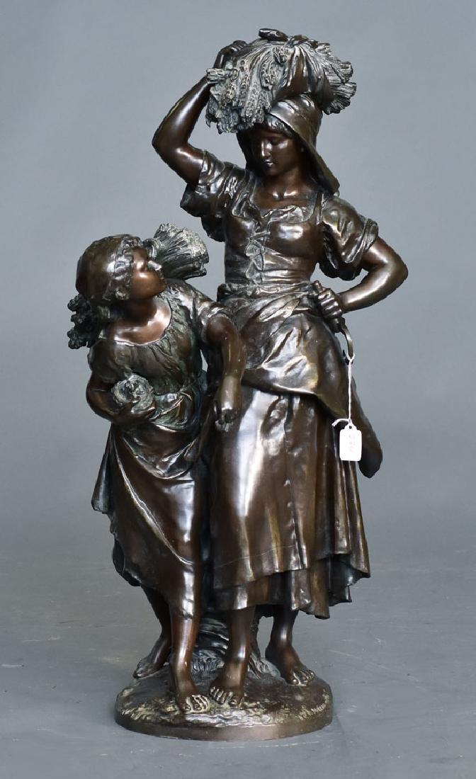 after Mathurin Moreau Bronze Statue