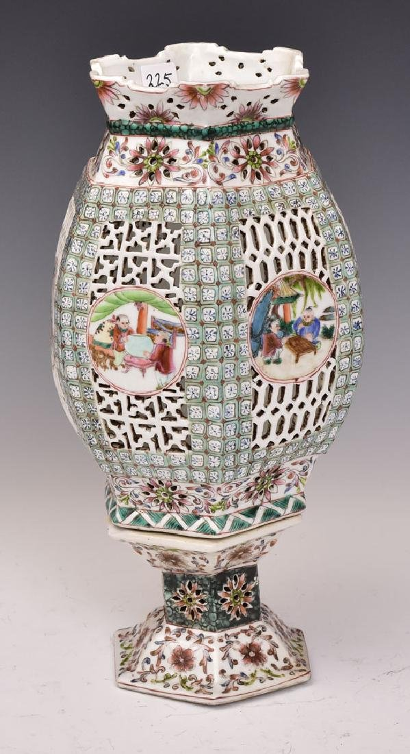 Chinese Porcelain Open Work Lantern