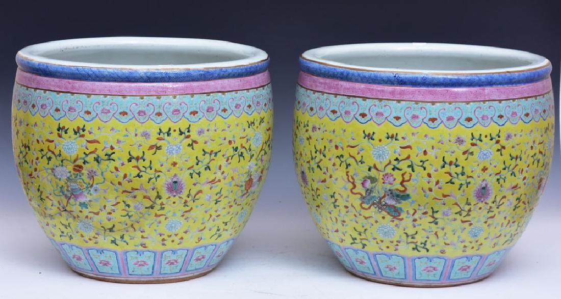 Chinese Porcelain Pair of Jardinieres