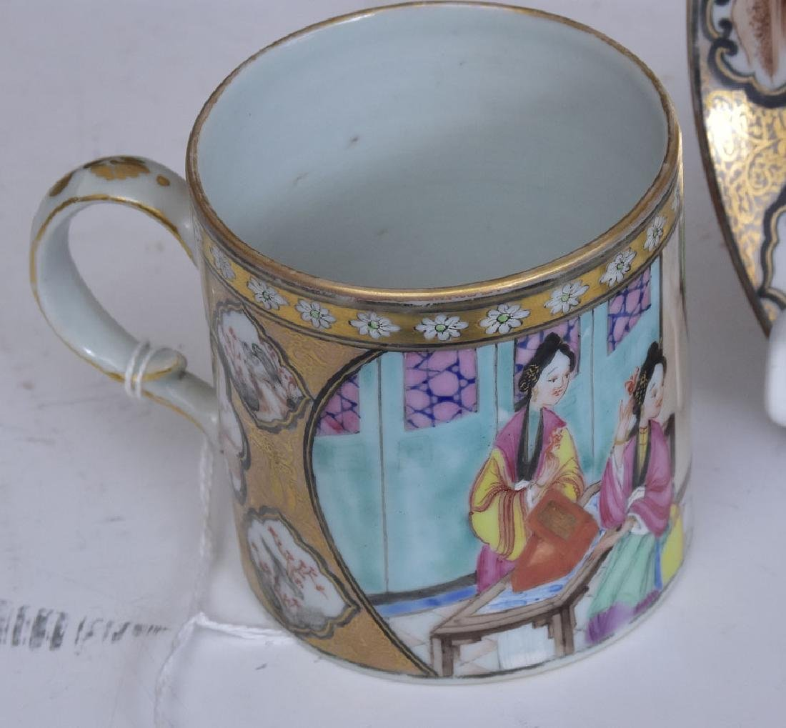 Chinese Export Cup and Saucer - 3