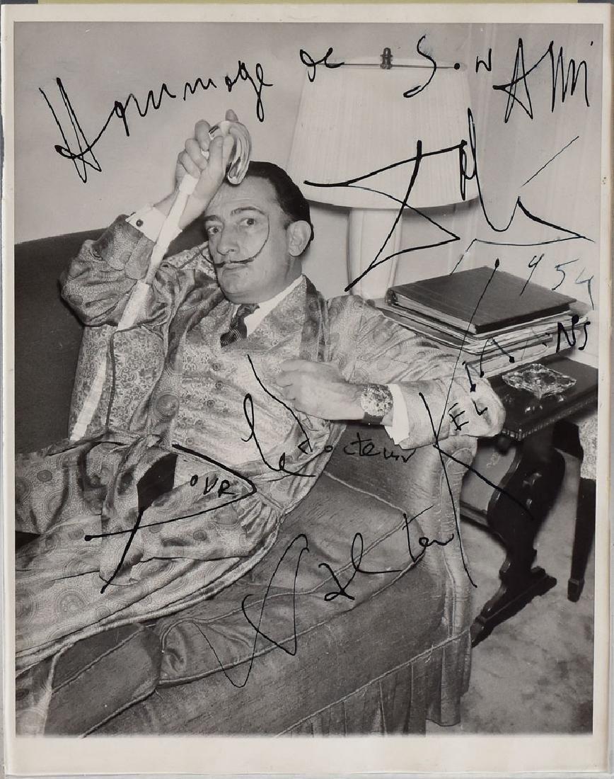 Salvador Dali Autographed Photo