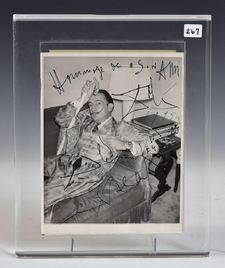 Salvador Dali Autographed Photo - 2