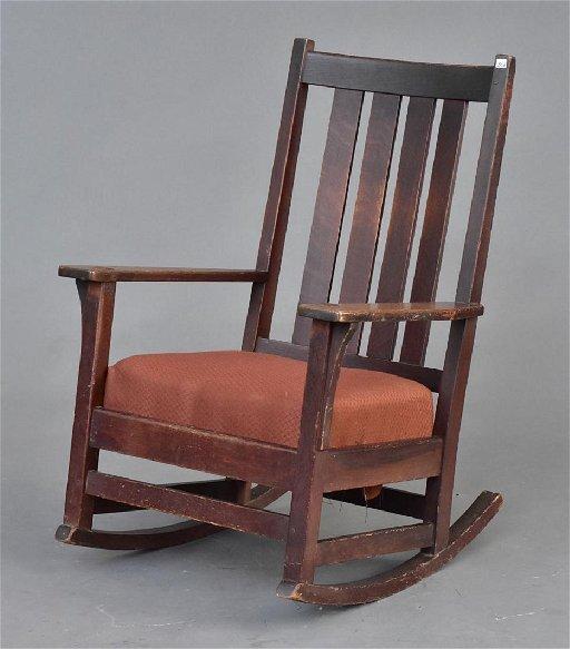 Wondrous L J G Stickley Rocking Chair Creativecarmelina Interior Chair Design Creativecarmelinacom