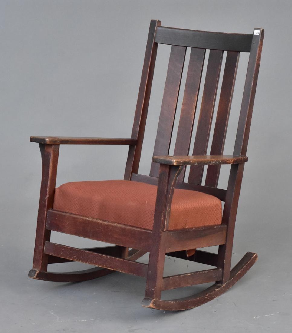 L & J G Stickley Rocking Chair
