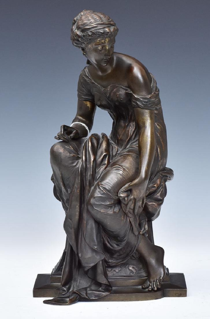 after Etienne Henri Dumaige Bronze Statue