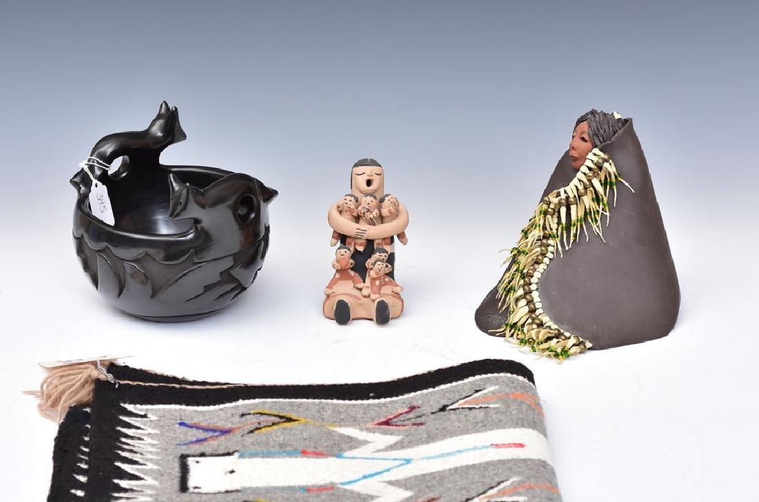 Santa Clara Black on Black Pottery Pot