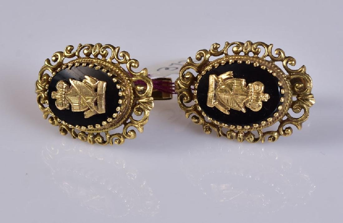 14k Gold Cuff Links