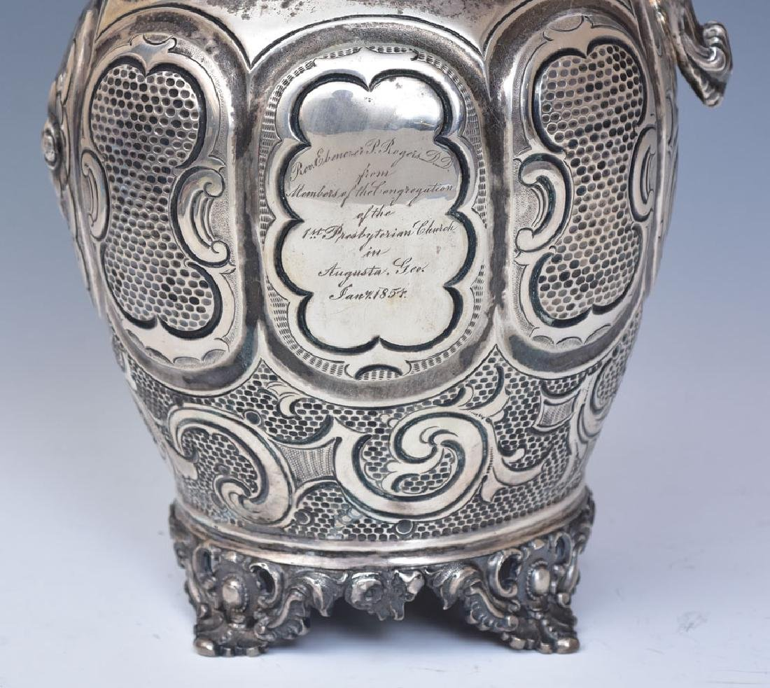 Clark & Co. Coin Silver Water Pitcher - 3