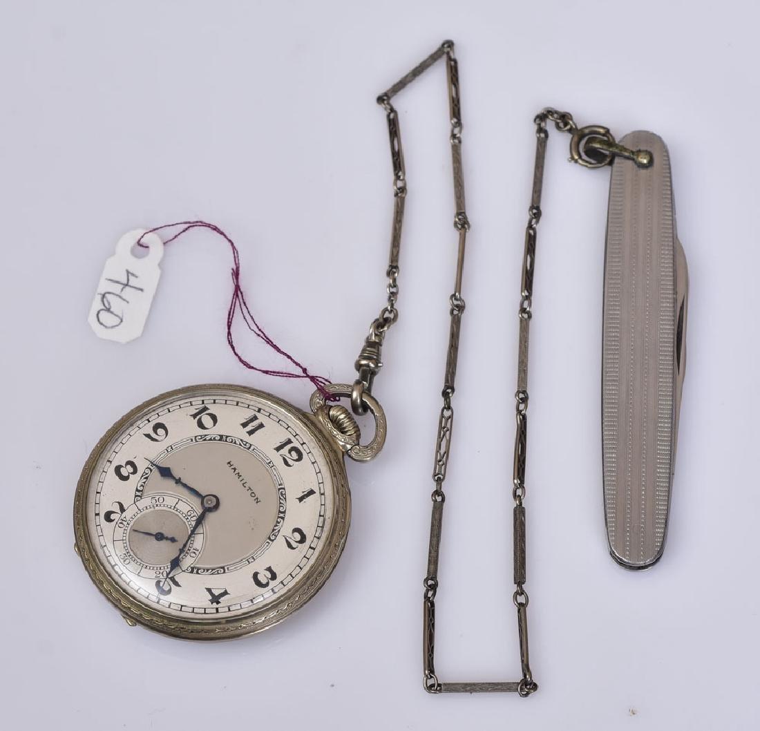 Hamilton 14k Gold Pocket Watch
