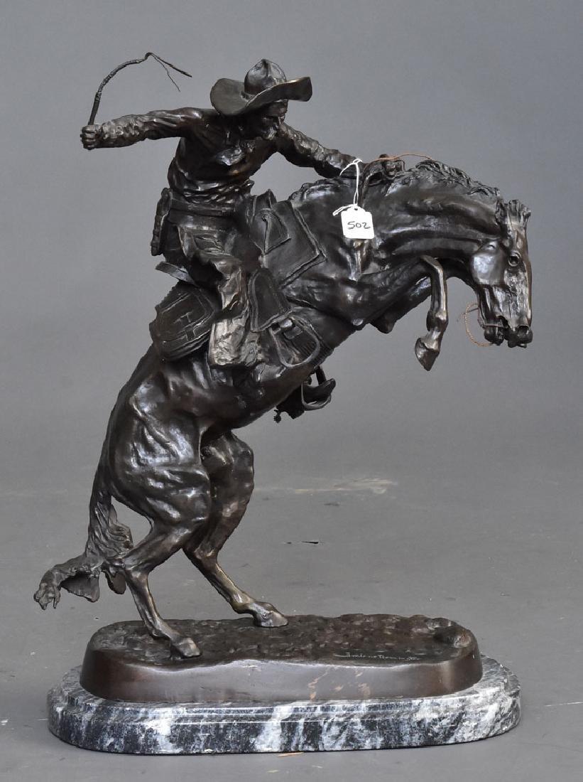 after Frederick Remington Bronze