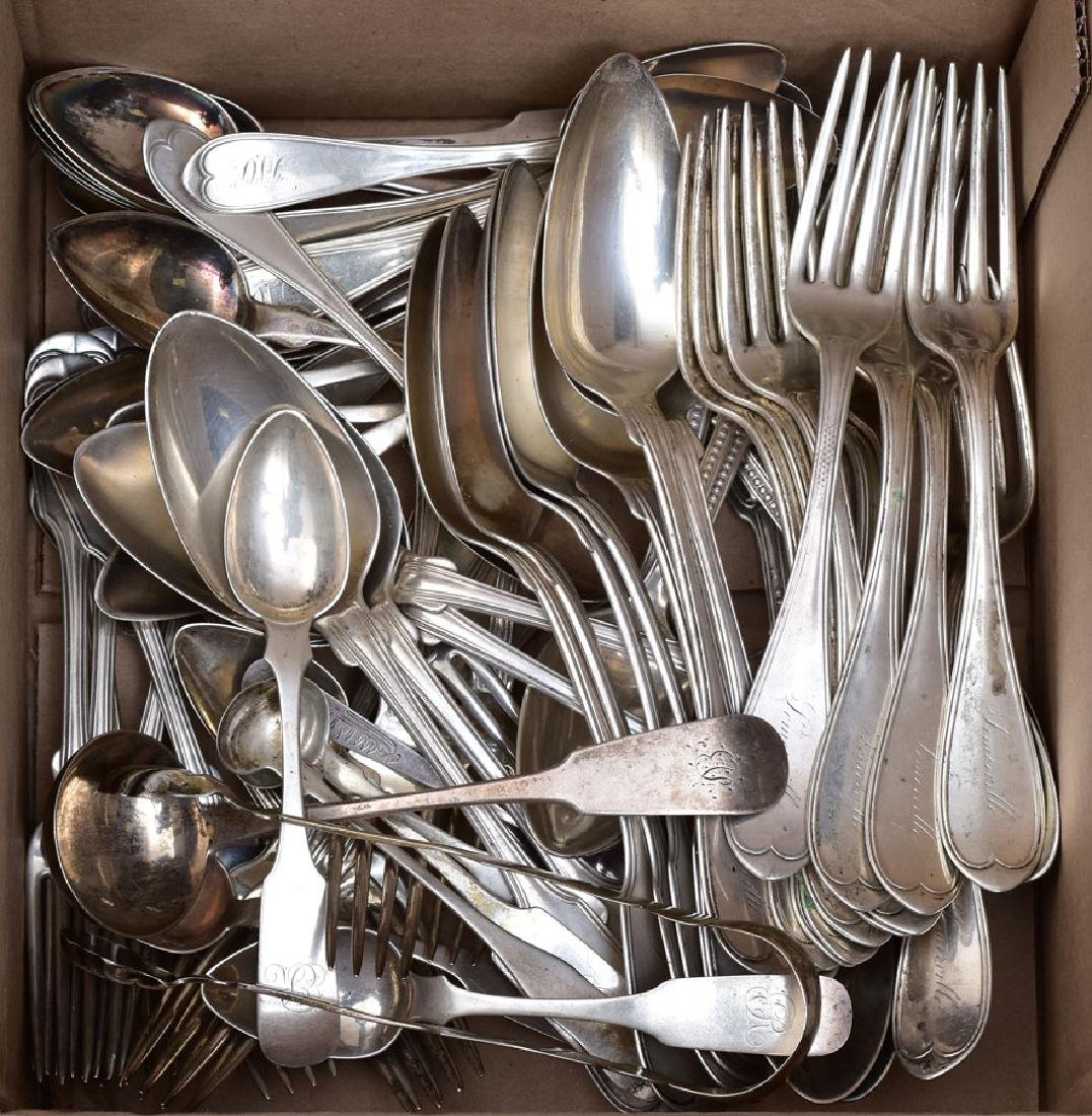 Group of Misc Coin Silver Flatware