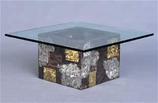 """Paul Evans Brutalist """"Cube"""" Coffee Table"""