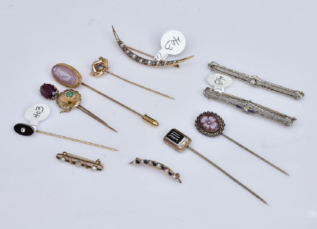 Victorian Brooches and Stick Pins
