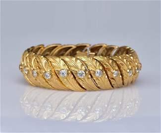Cartier 18k Gold Diamond Bracelet