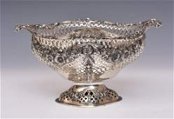 Victorian Pierced Sterling Silver Center Bowl