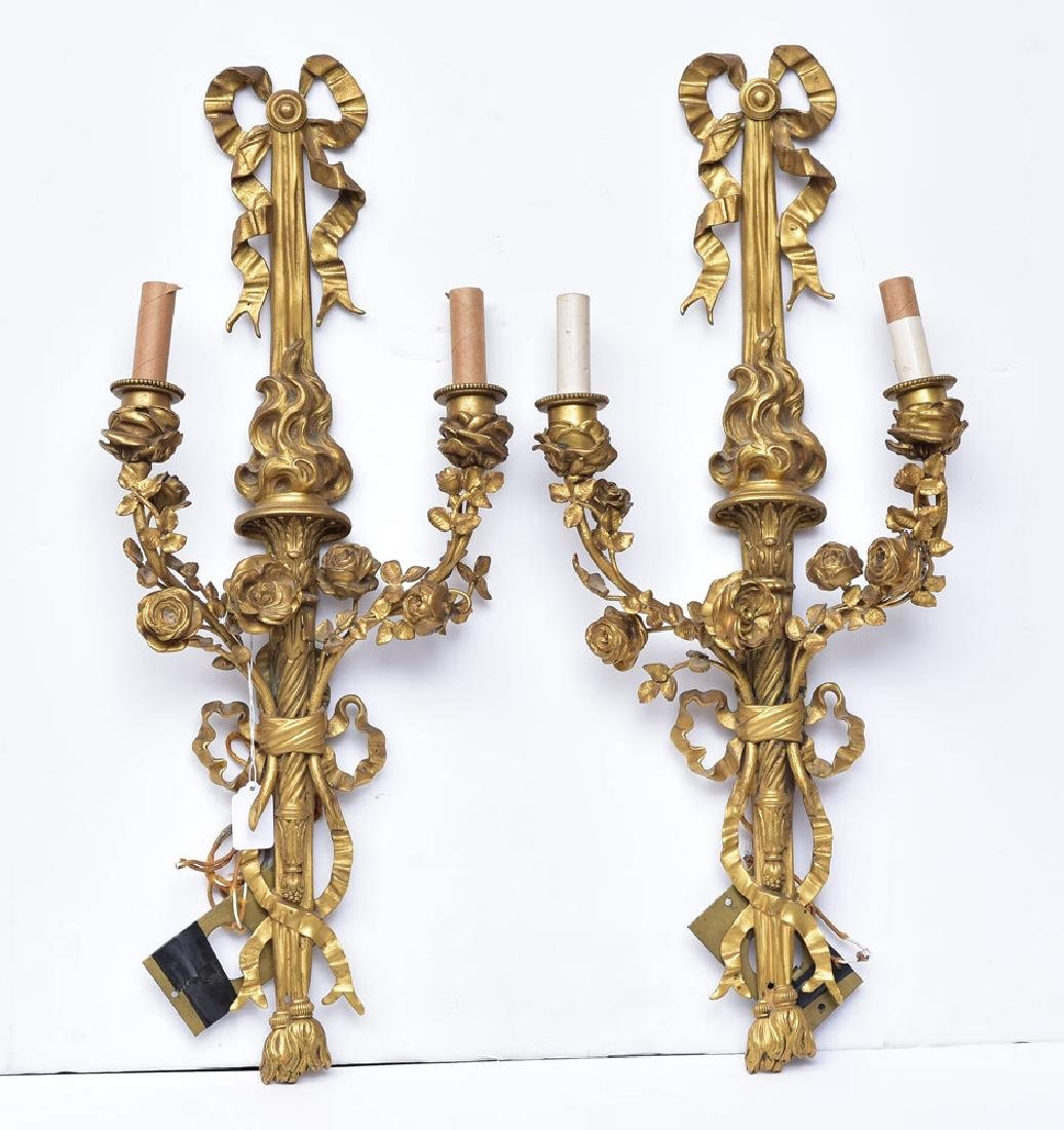 Pair of Caldwell Bronze Sconces
