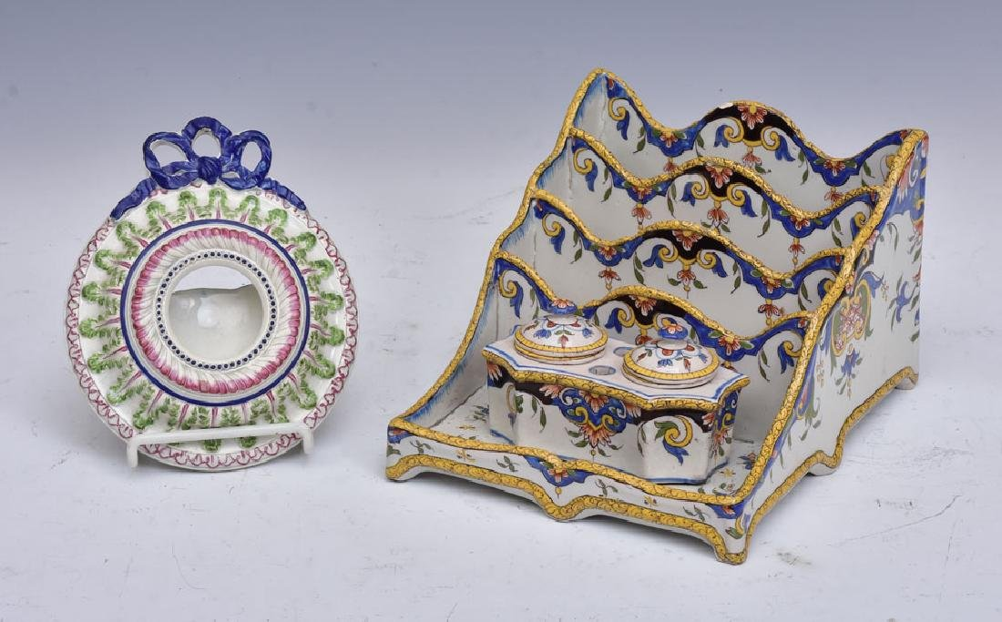 French Faience Standish