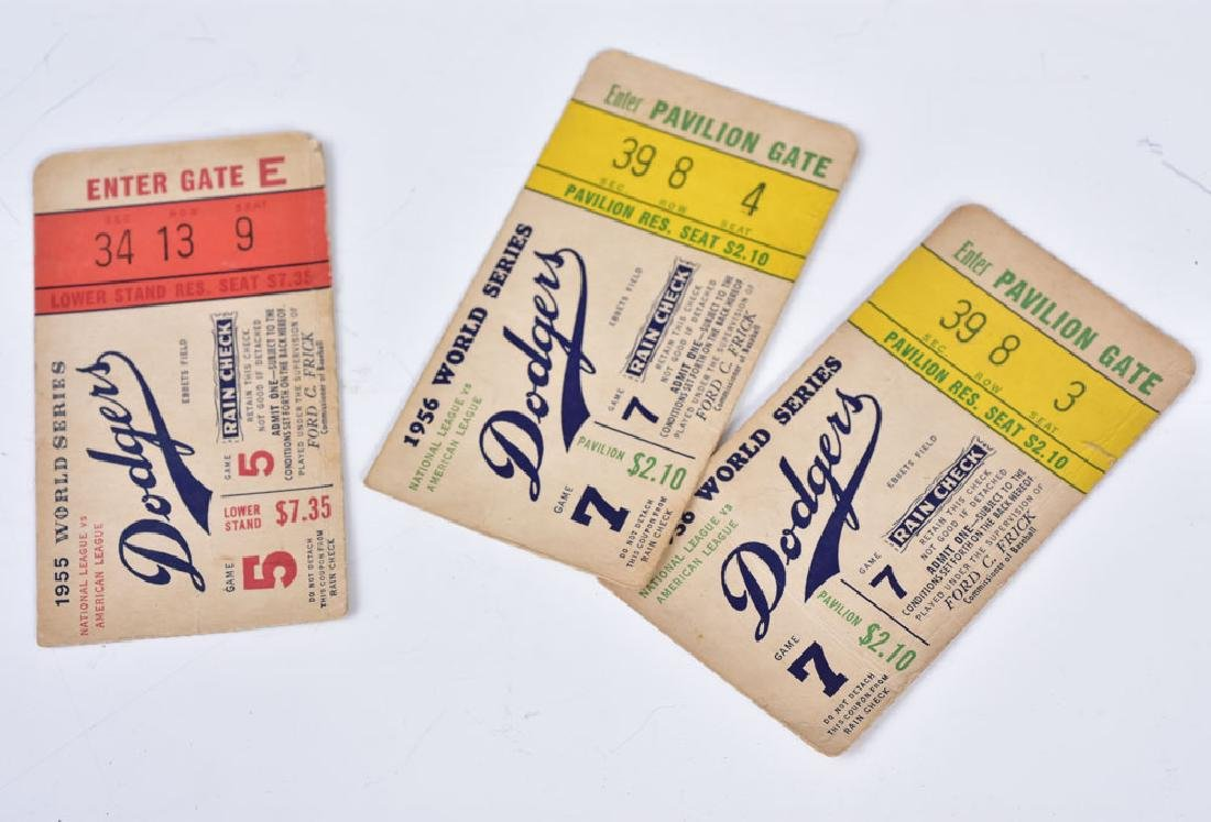 Brooklyn Dodger World Series Tickets