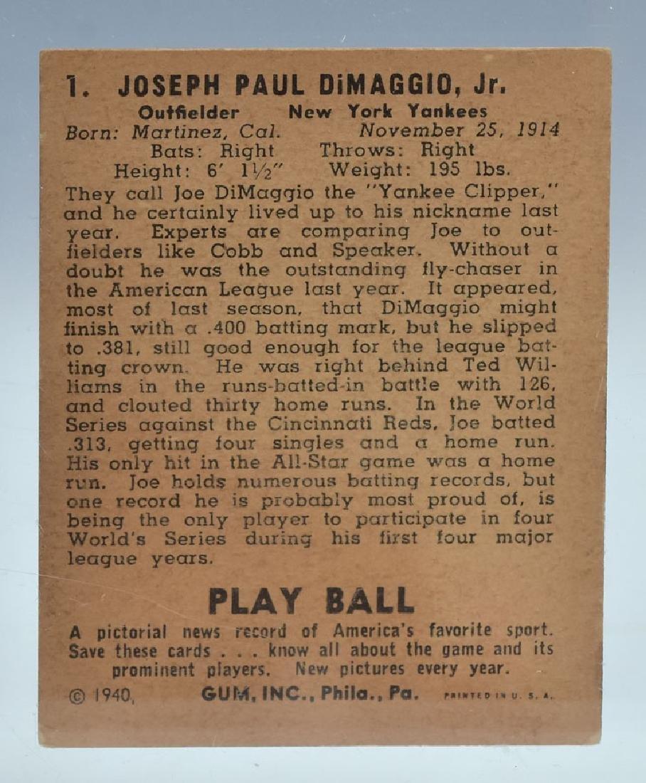 1940 Playball Joe DiMaggio - 3