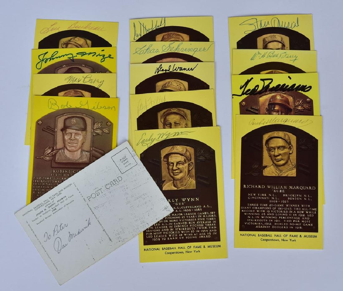 Group Of Signed Baseball Hall Of Fame Plaques