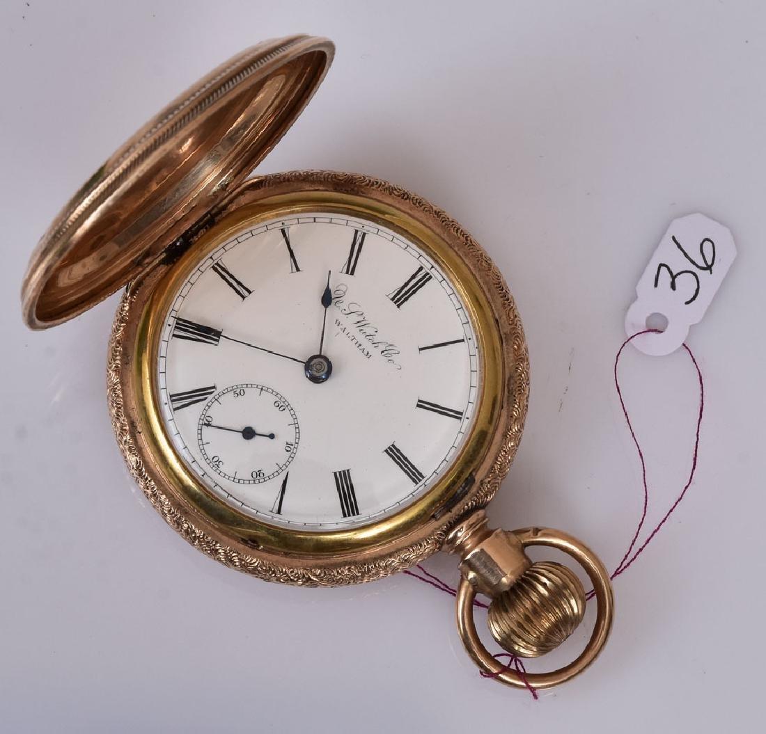 US Watch Company 14k Gold Pocket Watch