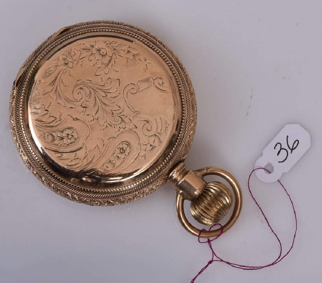 US Watch Company 14k Gold Pocket Watch - 2