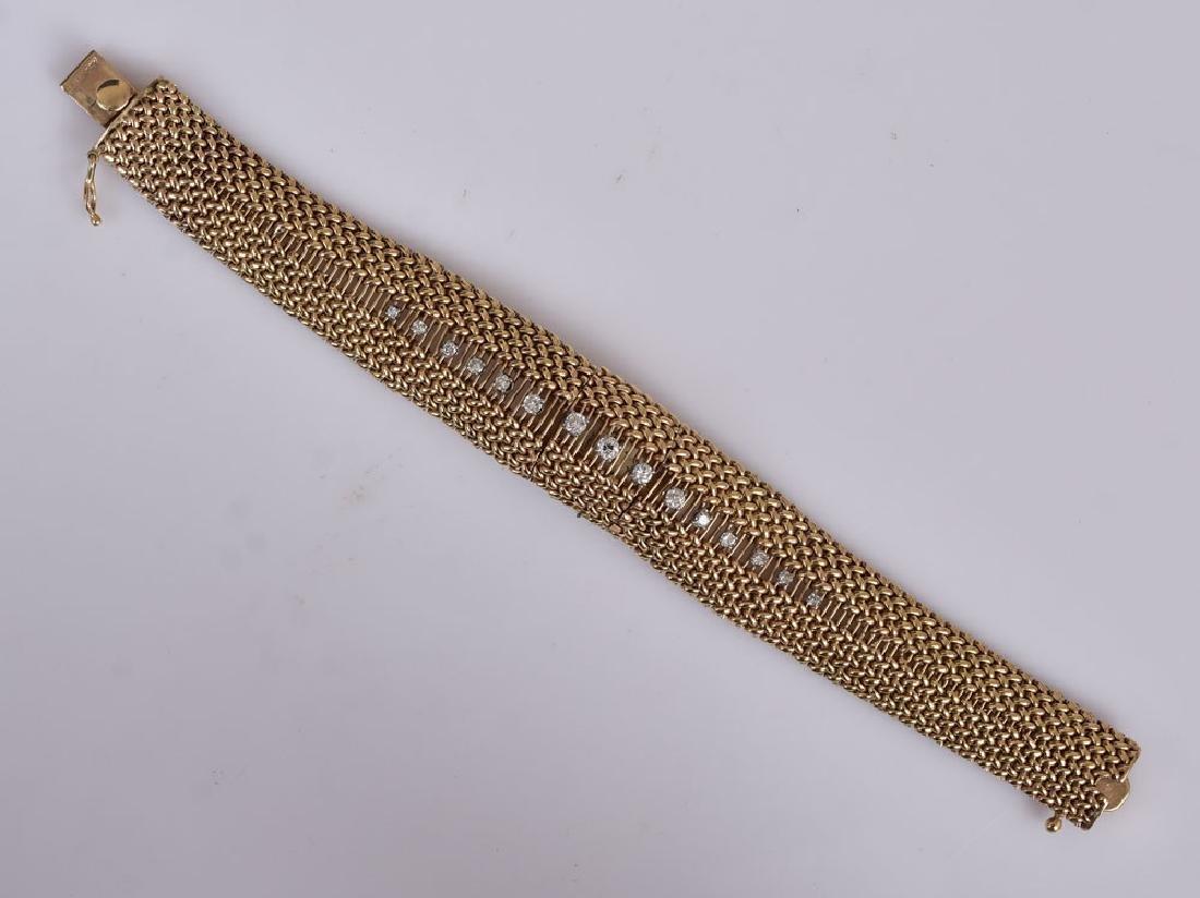 Cartier 14k Gold Diamond Ladies Wrist Watch