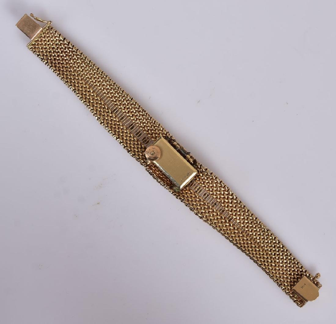 Cartier 14k Gold Diamond Ladies Wrist Watch - 2