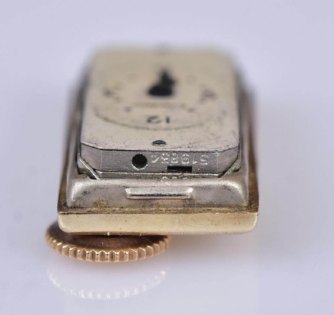 Cartier 14k Gold Diamond Ladies Wrist Watch - 4