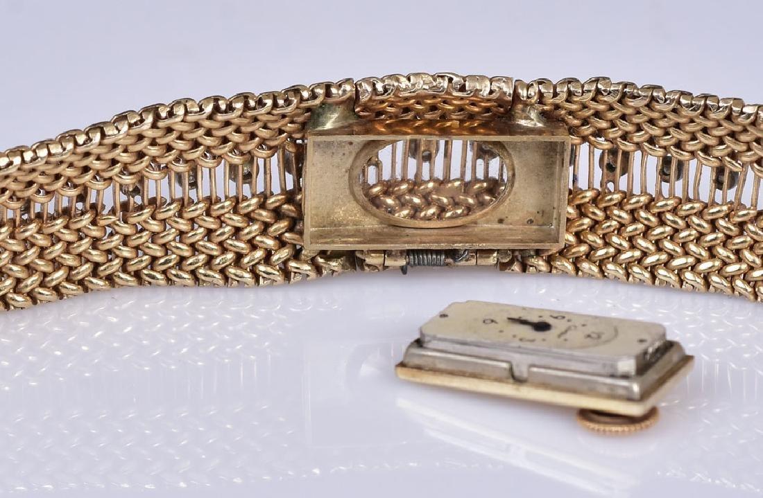 Cartier 14k Gold Diamond Ladies Wrist Watch - 5