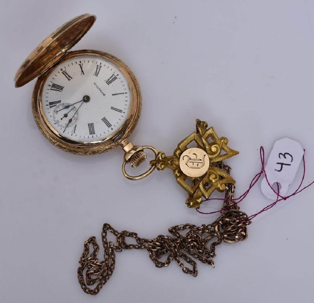 Waltham 14k Gold Ladies Pocket Watch