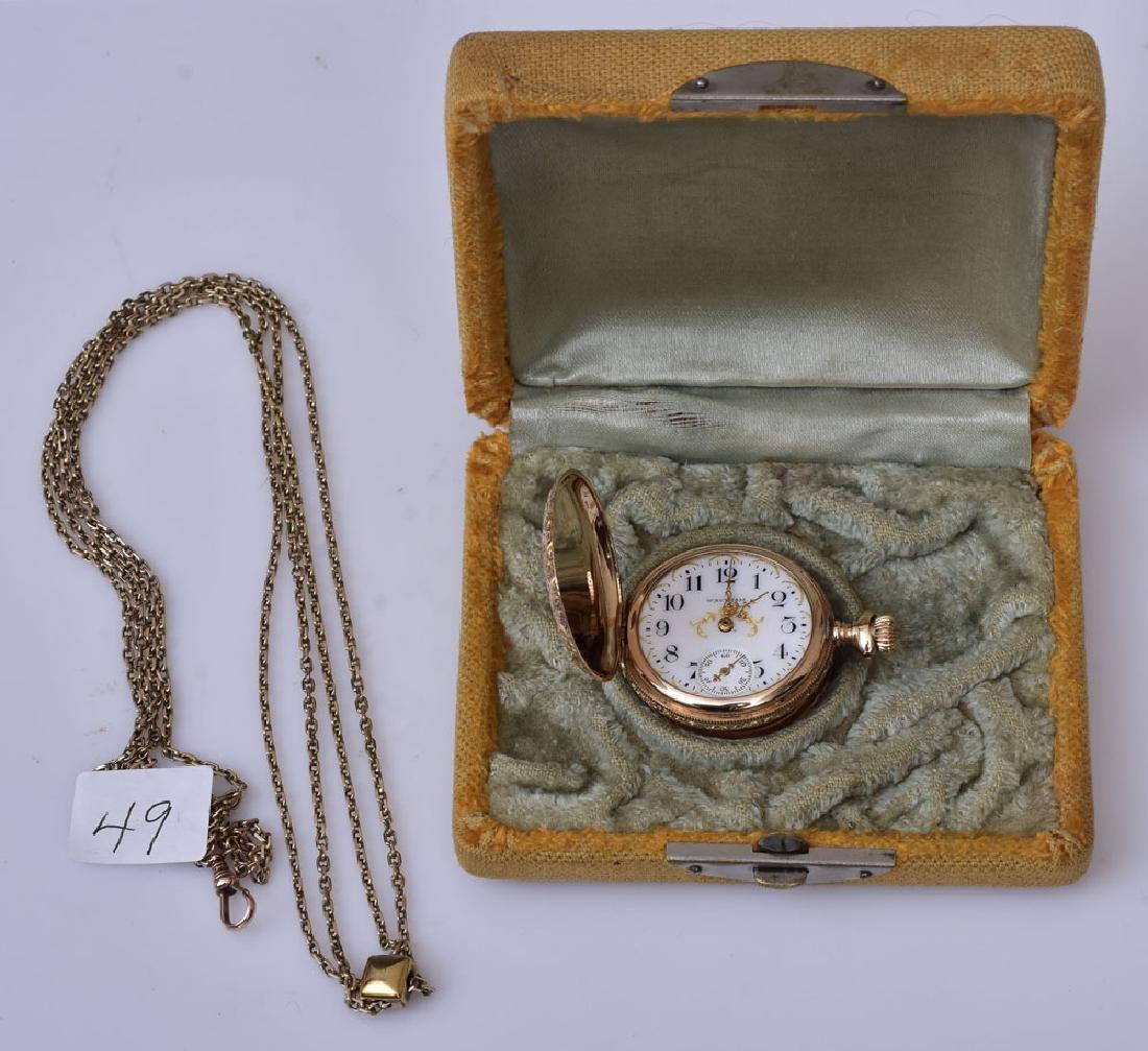 14k Gold Ladies Pocket Watch