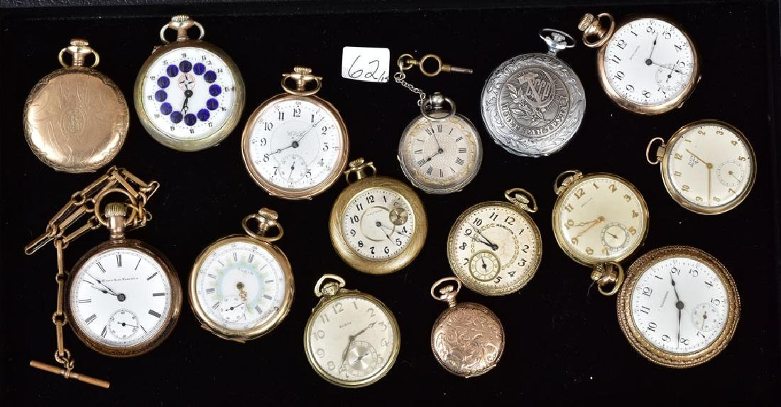 Collection of 15 Pocket Watches
