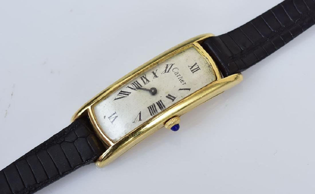 Cartier 18k Gold Curvex Wrist Watch